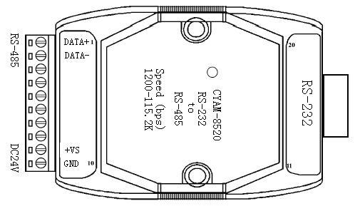 rs-485接口连接器:插入式端子  12.